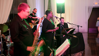 Adrian Duke Project saxophone performs at winery