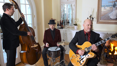 Alegria entire band trio performing live for a private event