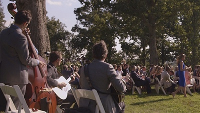 Bent Mountain Trio live performance at an outdoor wedding
