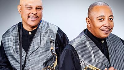 Horizon saxophone and trumpet player promotional photo
