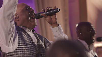 Horizon male singer belts it out for wedding reception