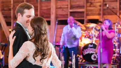 Horizon band performs in barn for couples first dance
