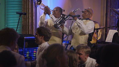 Horizon horns performing live for concert