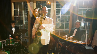 Jeff Decker Band saxophone and keys perform at formal event