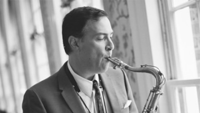 Jeff Decker Band solo saxophone playing music for a private event