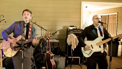 Little Known Legends duo plays at outdoor concert for a private event