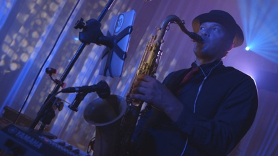 Lone Rangers The saxophone player performs live for college event