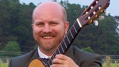 Peter Richardson guitar performance at farm