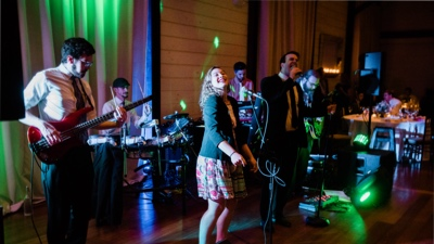RadioJacks band performing live set for wedding reception