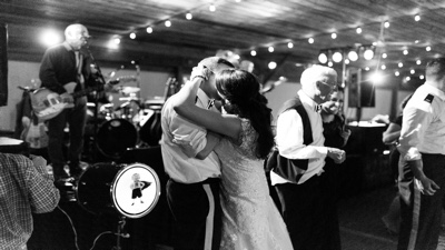 Jangling Reinharts The couples first dance and kissing with band performing