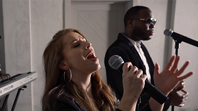 Revel Radio entertainers sing and play live concert music