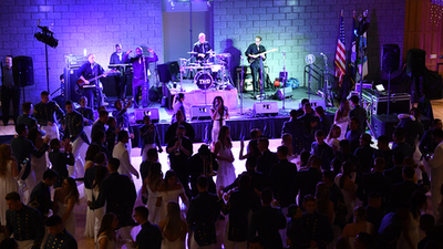 Tidewater Drive band performing live in front of audience at live concert