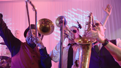 Tidewater Drive live band horn players